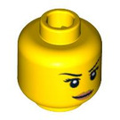 LEGO Yellow Tennis Player Head (Recessed Solid Stud)