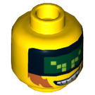 LEGO Yellow Terabyte Plain Head (Recessed Solid Stud) (18307)