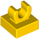 """LEGO Yellow Tile 1 x 1 with Clip (Raised """"C"""") (15712 / 44842)"""