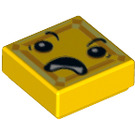 LEGO Yellow Tile 1 x 1 with Decoration with Groove (29396)