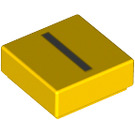 LEGO Yellow Tile 1 x 1 with Letter I Decoration with Groove (13417)