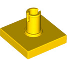 LEGO Yellow Tile 2 x 2 with Vertical Pin (2460)