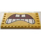 LEGO Yellow Tile 6 x 12 with Edge Studs with Sticker from Set 3826