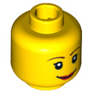 LEGO Yellow  Town Head (Recessed Solid Stud) (14750 / 82131)