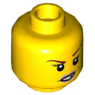 LEGO Yellow Ultimate Macy Plain Head (Recessed Solid Stud) (23768)