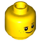 LEGO Yellow Ultimate Robin Minifigure Head (Recessed Solid Stud) (23817)