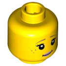 LEGO Yellow Unicorn Girl Plain Head (Safety Stud) (19146)