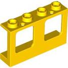 LEGO Yellow Wall with Window 1 x 4 x 2 (61345)