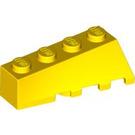 LEGO Yellow Wedge 2 x 4 Sloped Left (43721)
