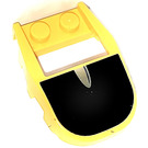 LEGO Yellow Wedge 3 x 4 x 0.66 Curved with Cutout with Black windshield