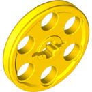 LEGO Yellow Wedge Belt Wheel (4185)