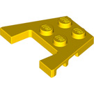 LEGO Yellow Wedge Plate 3 x 4 with Stud Notches (4859 / 48183)