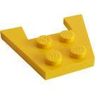 LEGO Yellow Wedge Plate 3 x 4 without Stud Notches (4859)