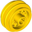 LEGO Yellow Wheel 12 x 20 with Technic Axle Hole and 6 Pegholes (2994)