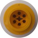 LEGO Yellow Wheel 43.2 x 28 Balloon Small with '+' Shaped Axle Hole (6580)