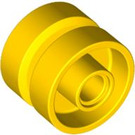 LEGO Yellow Wheel Hub 14.8 x 16.8 with Centre Groove (30285)