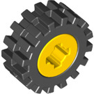 LEGO Yellow Wheel Rim Ø8 x 6.4 Assembly without Side Notch (73420)