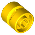 LEGO Yellow Wheel Rim Wide Ø11 x 12 with Notched Hole (6014)