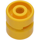 LEGO Yellow Wheel Rim Wide Ø11 x 12 with Round Hole (6014)