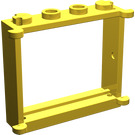 LEGO Yellow Window 1 x 4 x 3 with Shutter Tabs (3853)