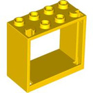 LEGO Yellow Window 2 x 4 x 3 with Square Holes (60598)