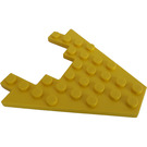LEGO Yellow Wing 8 x 8 with 3 x 4 Cutout (6104)
