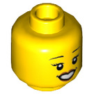 LEGO Yellow Woman in Plain Head (Recessed Solid Stud) (56785)