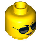 LEGO Yellow Woman Police Minifigure Head (Recessed Solid Stud) (29966)