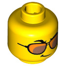LEGO Yellow Yuppie Minifigure Head (Recessed Solid Stud) (32747)