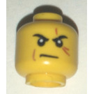 LEGO Yellow Zane Head with Scope (Recessed Solid Stud)