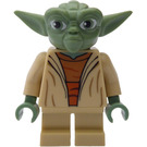 LEGO Yoda with White Hair and Printed Back Minifigure
