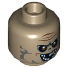 LEGO Zombie Driver Plain Head (Recessed Solid Stud) (3626 / 25205)