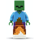 LEGO Zombie with Fire Minifigure