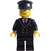 LEGO Airline Pilot with Mirrored Sunglasses Minifigure