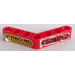LEGO Beam Bent 53 Degrees, 4 and 4 Holes with 'KEY TEXS' and 'RACING' Sticker (32348)