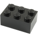 LEGO Black Brick 2 x 3 (3002)