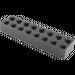 LEGO Black Brick 2 x 8 (3007 / 93888)