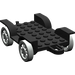 LEGO Black Fabuland Car Chassis 8 x 6.5 (Complete)