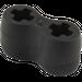 LEGO Black Flexible Rubber Axle Connector (45590)