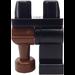 LEGO Black Hips with Black Left Leg and Brown Peg Leg