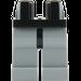 LEGO Black Minifigure Hips with Medium Stone Gray Legs (73200 / 88584)