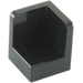 LEGO Black Panel 1 x 1 x 1 Corner with Rounded Corners (6231)