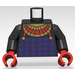 LEGO Black Pharaoh Hotep Torso with Black Arms and Red Hands