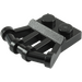 LEGO Black Plate 1 x 2 with Angled Handles (92692)