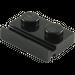LEGO Black Plate 1 x 2 with Door Rail (32028)