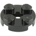 LEGO Black Plate 2 x 2 Round with Axle Hole (with '+' Axle Hole) (4032)