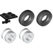 LEGO Black Plate 2 x 2 with Wheels