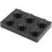 LEGO Black Plate 2 x 3 (3021)