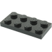 LEGO Black Plate 2 x 4 (3020)