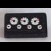 LEGO Black Slope 1 x 2 (31°) with 7 Gauges Pattern Sticker